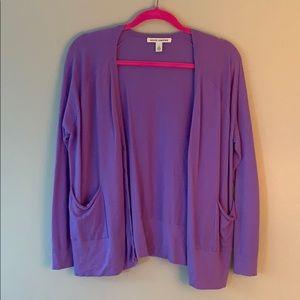 Autumn cashmere purple cardigan 100% cashmere